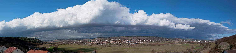 Wolkenhaube über Hammelburg